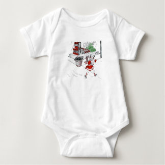 Old Fashioned Grocery Store and Little Girl Baby Bodysuit