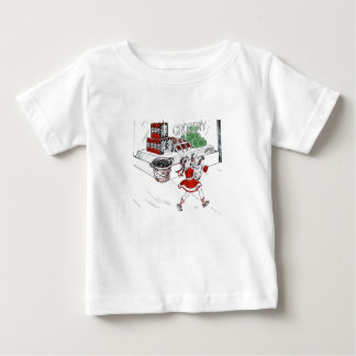 Old Fashioned Grocery Store and Little Girl Baby T-Shirt