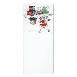 Old Fashioned Grocery Store and Little Girl Card