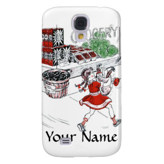 Old Fashioned Grocery Store and Little Girl Samsung Galaxy S4 Case