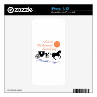 Old Fashioned Guy Decals For iPhone 4S