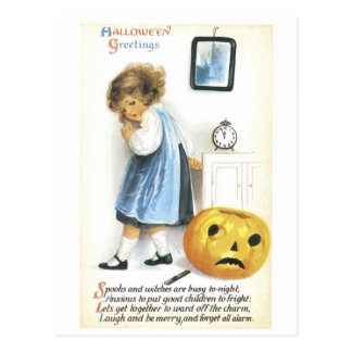 Old Fashioned Hallowe en Greetings Postcards