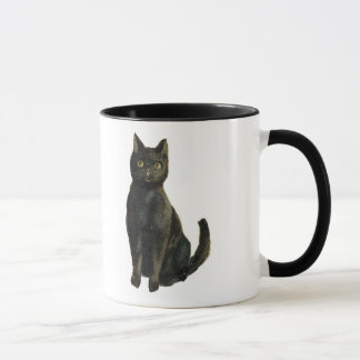 Old Fashioned Halloween Black Cat Mug