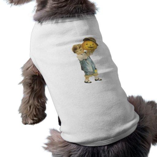 Old Fashioned Halloween Boy & Jack-O-Lantern Pet Clothes
