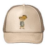 Old Fashioned Halloween Boy & Jack-O-Lantern Trucker Hats