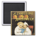 Old Fashioned Halloween Ghost Story Kids 2 Inch Square Magnet