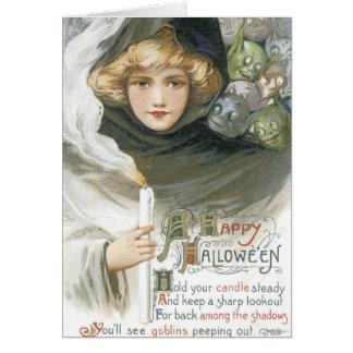 Old Fashioned Halloween Goblin Tale Card