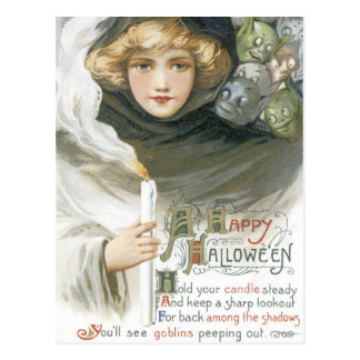 Old Fashioned Halloween Goblin Tale Postcard