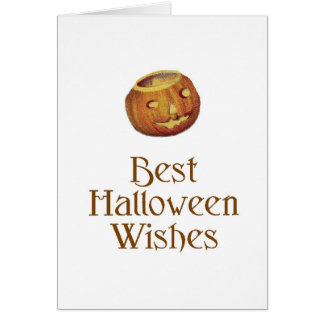 Old Fashioned Halloween Jack-O-Lantern Card