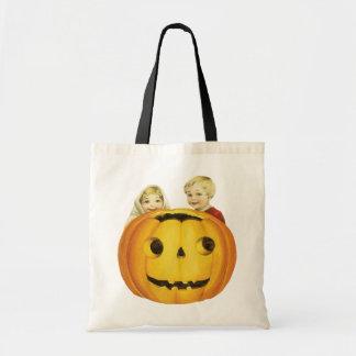 Old-fashioned Halloween, Jack-o'-lantern(Pumpkin) Tote Bag