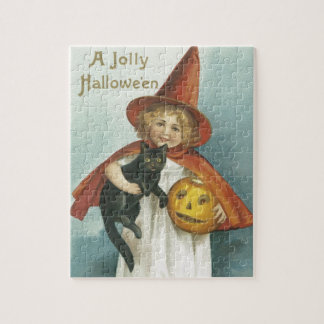 Old Fashioned Halloween Jolly Little Witch Puzzle