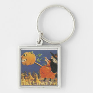 Old Fashioned Halloween Witch Keychain