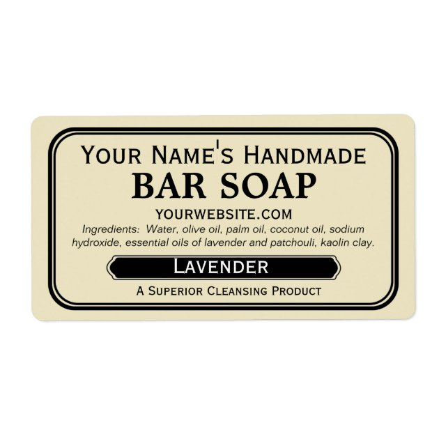 Old Fashioned Handmade Soap Labels for Soapmaking | Zazzle