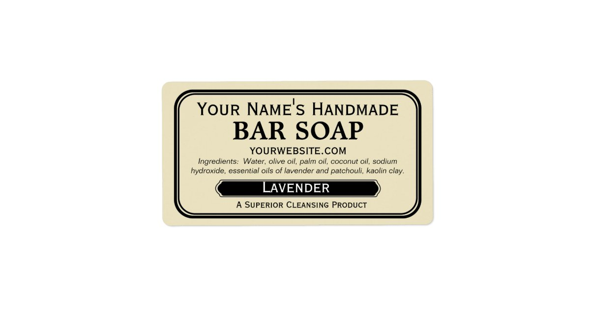 Old Fashioned Handmade Soap Labels For Soapmaking Zazzle