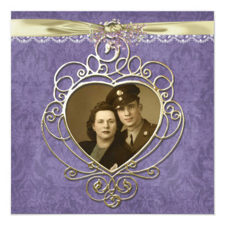 Old-fashioned Heart frame Card
