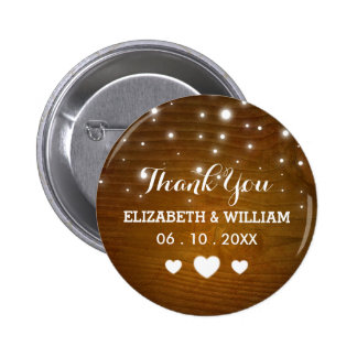 Old Fashioned Hearts - Wedding Favor Thank You Pin