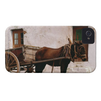 Old-fashioned horse-drawn cart iPhone 4 Case-Mate case