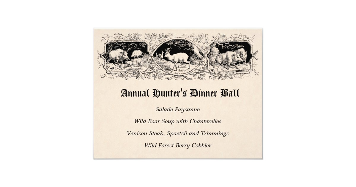 Old Fashioned Menus Gifts on Zazzle