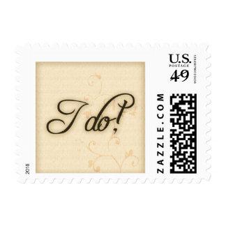 Old fashioned I do Postage stamp