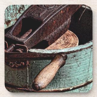 Old Fashioned Ice Cream Churn Drink Coaster