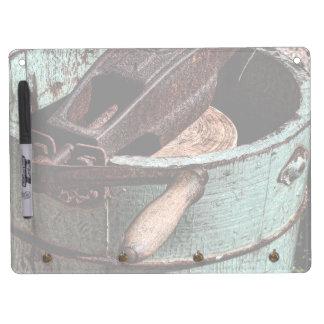Old Fashioned Ice Cream Churn Dry Erase Board With Keychain Holder