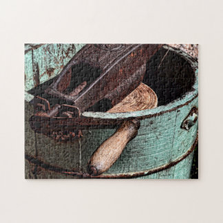 Old Fashioned Ice Cream Churn Jigsaw Puzzle