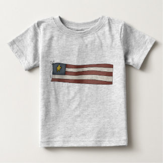 Old Fashioned Independence Day Flag Baby T-Shirt