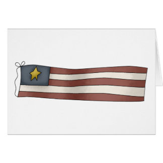 Old Fashioned Independence Day Flag Card