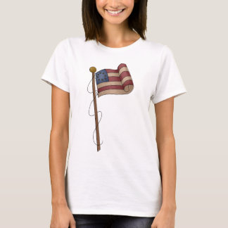 Old Fashioned Independence Day Flag T-Shirt
