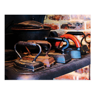 Old-Fashioned Irons Postcard
