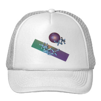 Old Fashioned Jacks and Ball Game Purple Trucker Hat