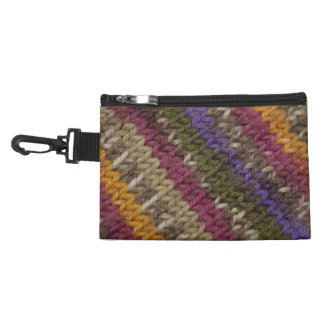 Old-Fashioned Knitted Sweater Pattern Accessory Bag