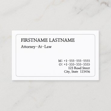 Old Fashioned, Legal Professional Business Card