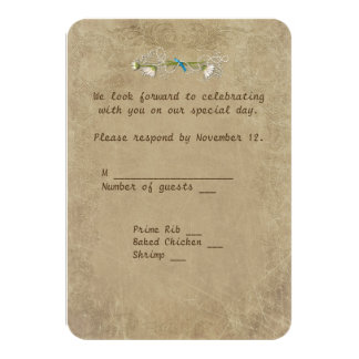 old-fashioned Marriage License RSVP Card