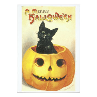 Old Fashioned Merry Halloween Party Invitation