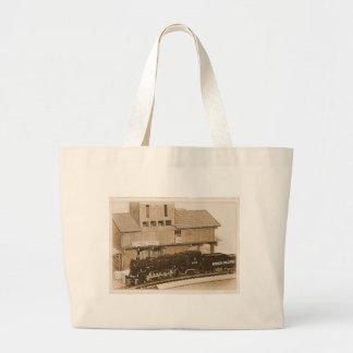 Old Fashioned Model Train Photo Jumbo Tote Bag