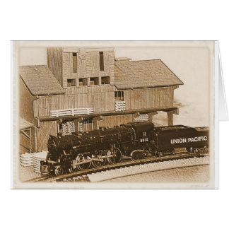 Old Fashioned Model Train Photo Card