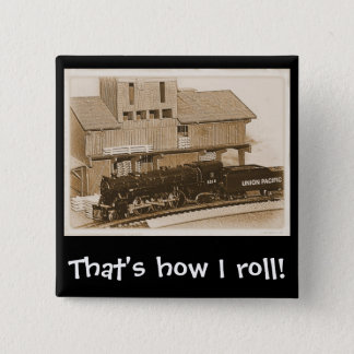 Old Fashioned Model Train Photo Pinback Button