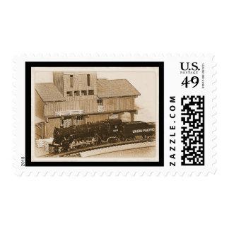 Old Fashioned Model Train Photo Postage