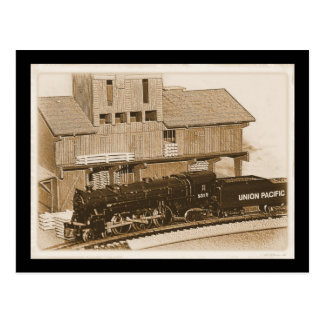 Old Fashioned Model Train Photo Postcard