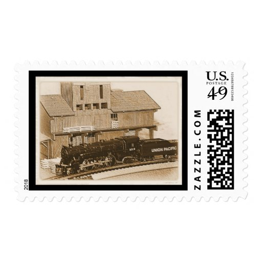 Old Fashioned Model Train Photo Stamps