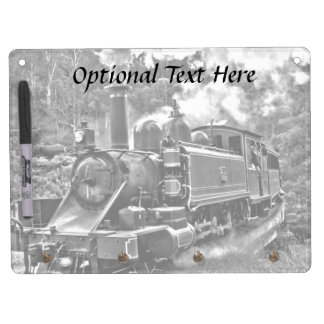Old Fashioned Narrow Gauge Steam Train Dry Erase Board With Keychain Holder