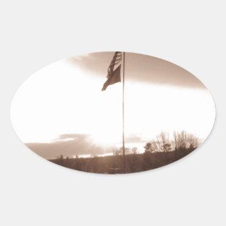 Old Fashioned Patriotism Oval Sticker