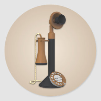 Old Fashioned Phone Sticker