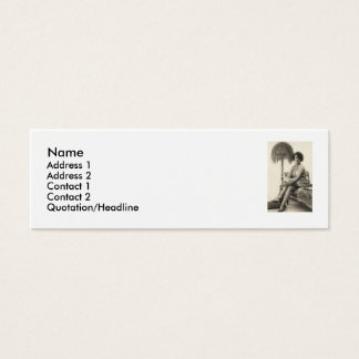 OLD FASHIONED PIN UP GAL CALLING CARD