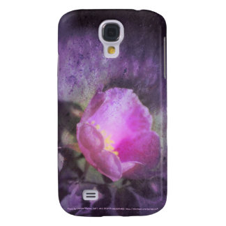 Old fashioned pink rose, purple texture samsung galaxy s4 covers