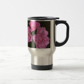 Old Fashioned Pink Roses Travel Mug