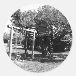 Old Fashioned Playground Classic Round Sticker