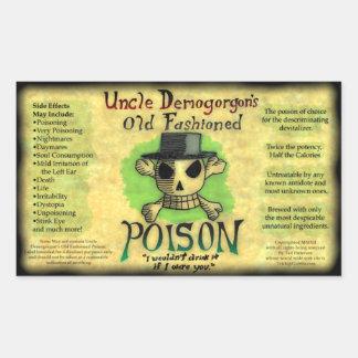 Old-fashioned Poison Sticker de tío Demogorgon Pegatina Rectangular