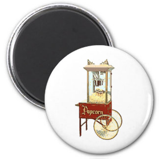 Old Fashioned Popcorn Machine Magnet